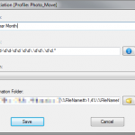 DropIt Move files setup