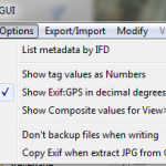 Exiftool Gui gps degrees