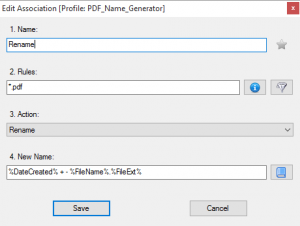PDF name association