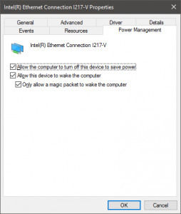 Intel Ethernet Connection